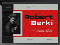Robert Berki - Personal Portfolio creative portfolio landing page ui design ui personal website portfolio webdesign web website