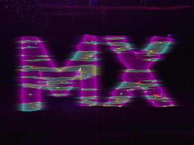 DESIGN TO THE MX 80s retro logitech letters typography video animation after effects
