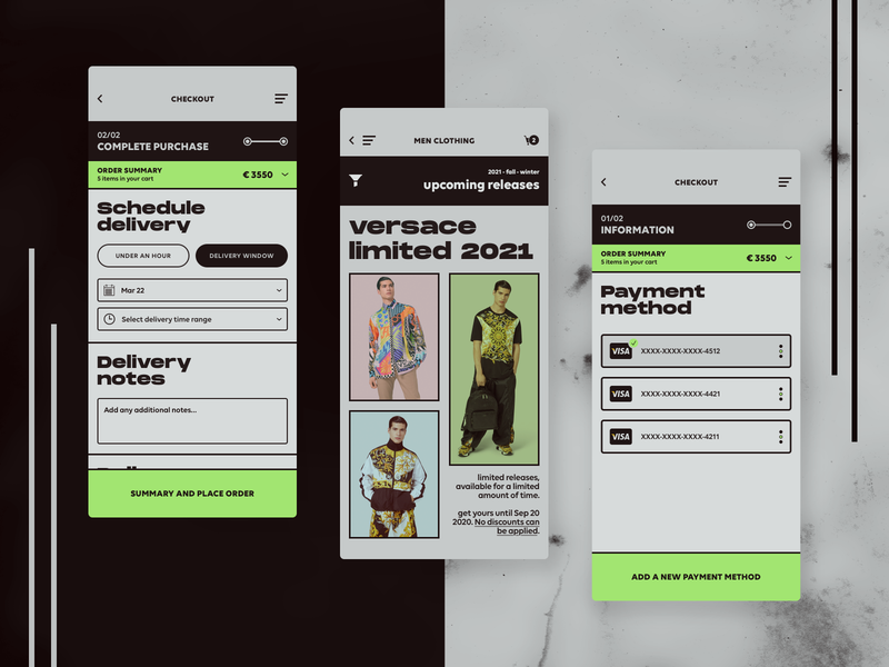 High-End Fashion Store - iOS App Design user experience user interface e-commerce ui design ux design ui ux product minimal store mobile app design marketplace high-end clothing fashion