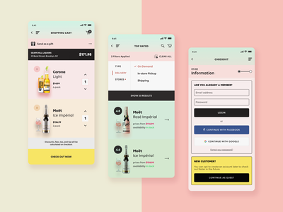 MBD - Liquor, Beer, & Wine - Marketplace iOS App wine ux design ui design ux ui mobile marketplace liquor e-commerce beer app design
