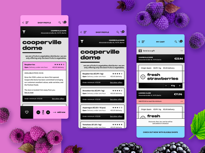 sooioo - groceries marketplace - iOS app design product design commerce e-commerce berries fruits groceries marketplace user interface user experience ux design ui design mobile app design