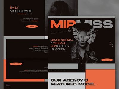 mirmiss - Modelling Agency Milan ui ui design web webdesign milan modelling agency versace fashion agency fashion website web design