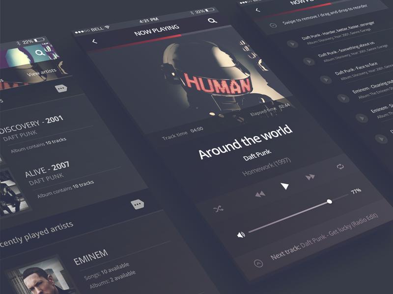 FREEBIE] Philomela - iPhone 6 Music Player by Robert Berki
