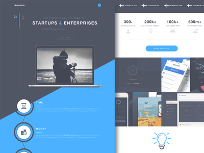 CT - Website exploration concept mvp startups dev shop ui design landing page agency website web design