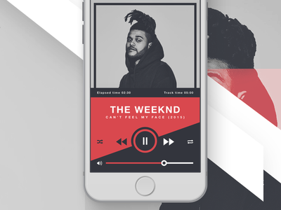 RUBRUM - iOS Music Player play now audio the weeknd audio player iphone 6s ios ios application