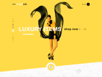 Purpvir landing page shopping fashion design dribbble full