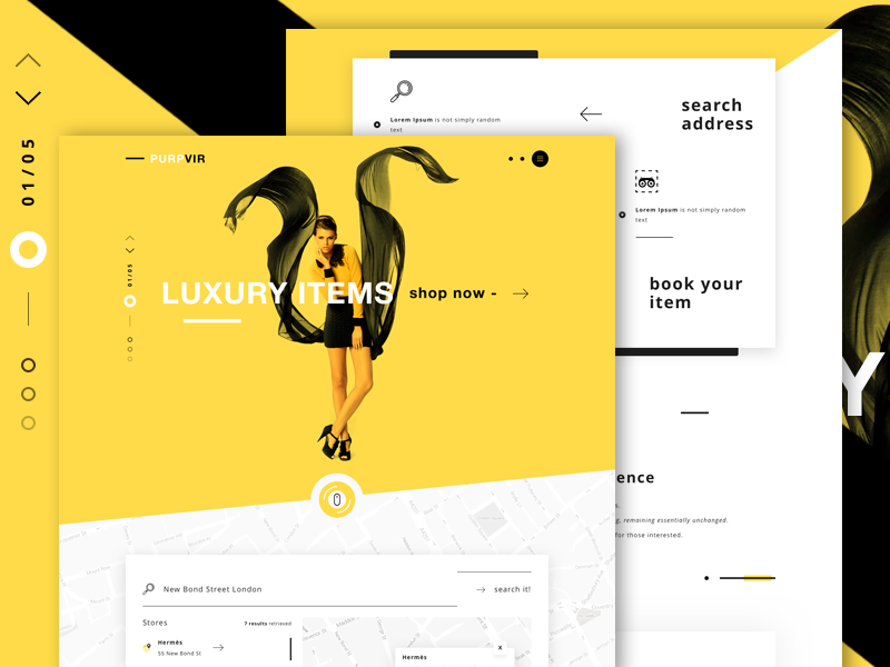 Purpvir landing page shopping fashion design dribbble