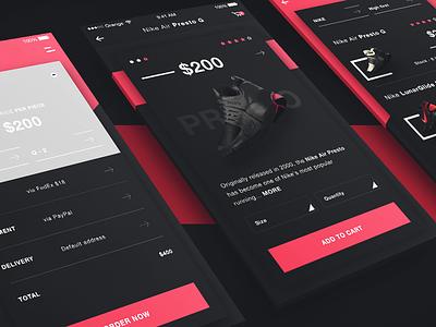 REPQQ - Ecommerce iOS app ios app ux design ui design ecommerce app fashion fitness shoes nike mobile app shop