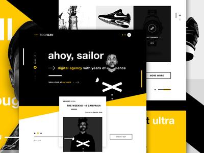 TOCKDZN - Creative Agency Website #2 material web portfolio website user interface ui design web design website landing page digital agency creative agency