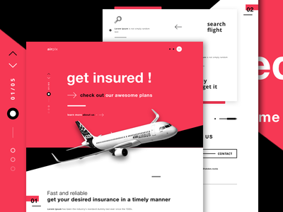 airplx - Flight insurance flights user interface website design ui design webdesign flight insurance airlines airplane