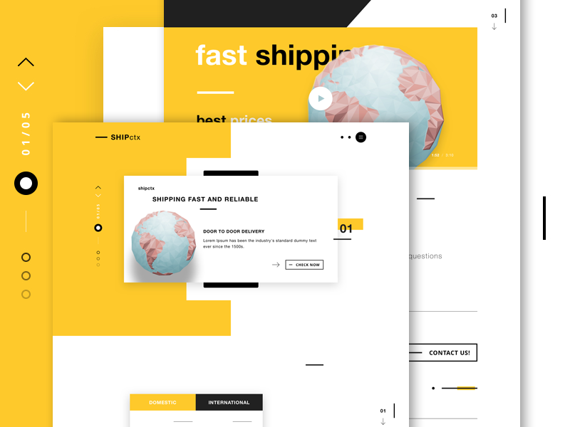 SHIPctx - Shipping services landing page web design delivery services shipping interface design ui design shipping website shipping company