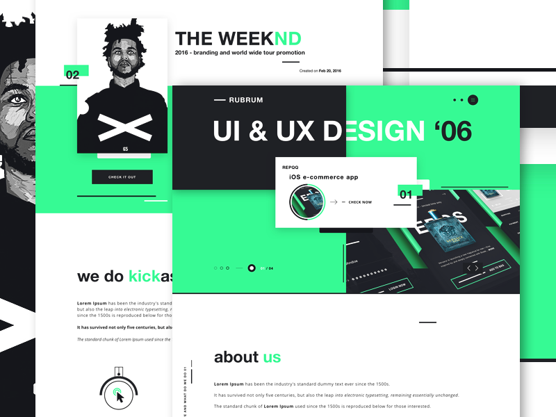 RUBRUM - Digital Agency website design concept by Robert