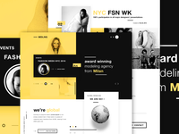 MDLNG - Modeling agency concept website