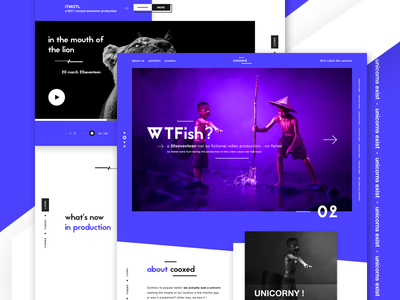 cooxed - a funky digital agency v2 minimal production agency video production digital agency ui design ui landing page creative agency web design website design funky and fresh unicorns
