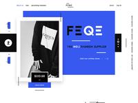 Feqe fashion luxury shopping ui ux design landing page webdesign dribbble full