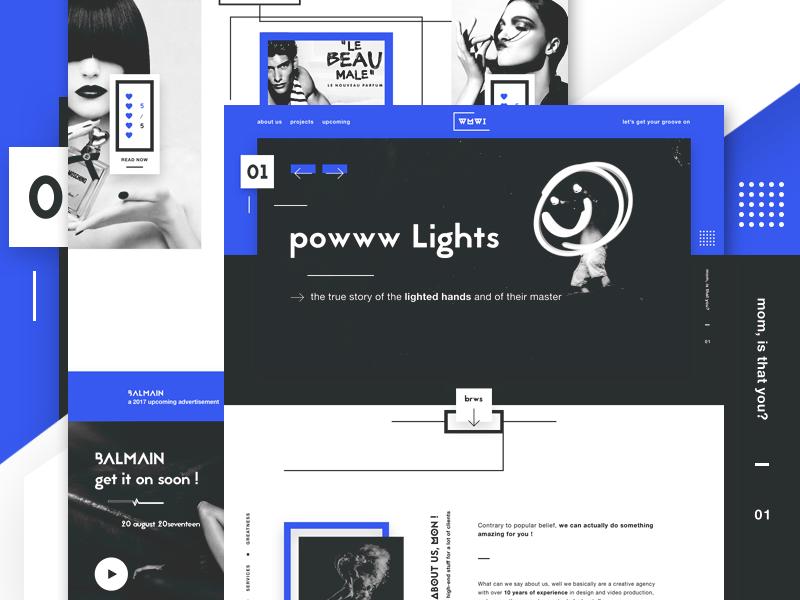 WMWI - Digital agency landing page - WIP digital agency ui design ui landing page creative agency web design website design funky and fresh unicorns