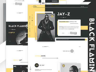 eveprx - Music Events landing page website ui web design ui design jay-z tickets music industry music events landing page kendrick lamar events buy tickets