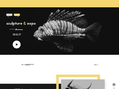 expber - Art Expo Event Design minimal design one page ui design sculpture landing page paintings landing page art expo art gallery website design web design landing page