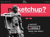 No ketchup ui design webdesign header ux dribbble shot art full 3