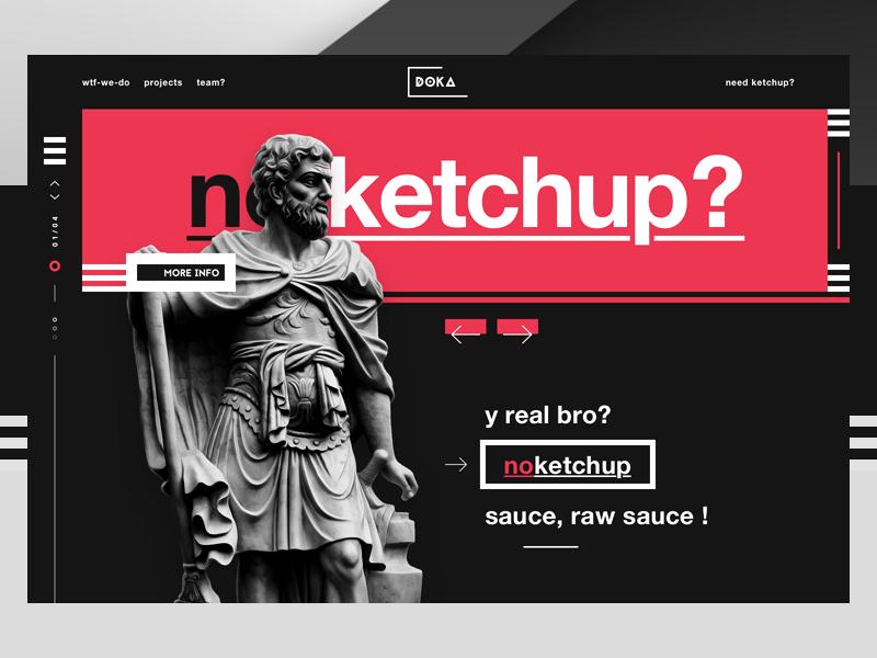 No ketchup ui design webdesign header ux dribbble shot art shot 5