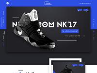 Mosqip sneakers shop website ux ui design dribbble full