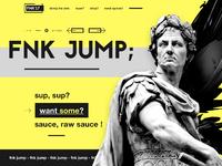 Fnk urban clothing hype landing page ui ux design webdesign dribbble full 2