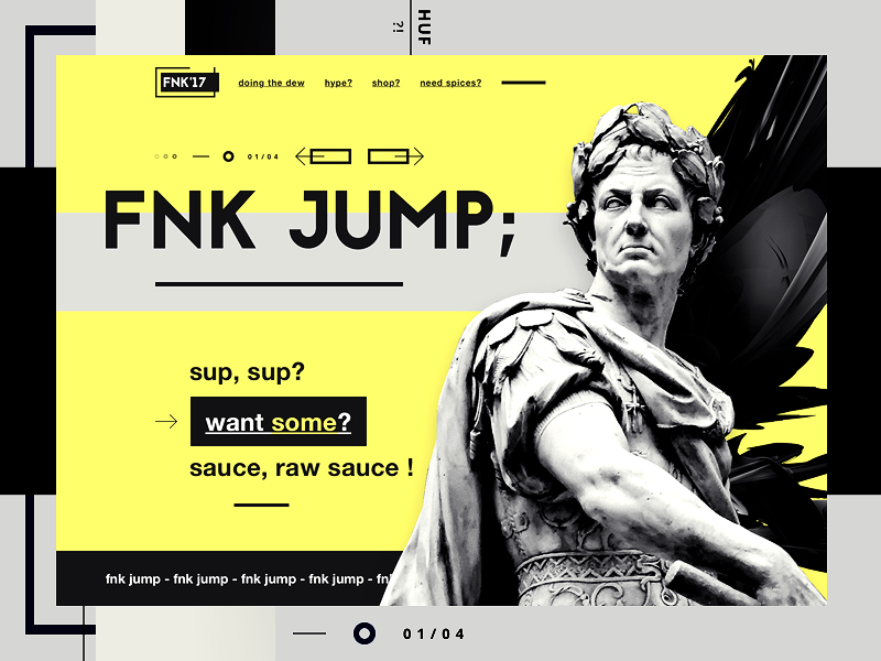 FNK'17 shopping urban wear clothing art statue hype minimal one page ui design website design web design landing page