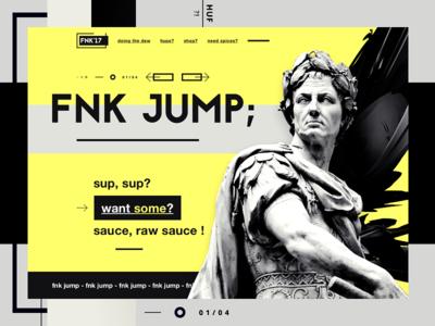 FNK'17 shopping urban wear clothing art statue hype minimal one page ui design website design web design landing page