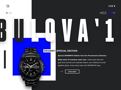 TICK'D - Watch shop concept bulova shopping ui watch watch shop hype minimal one page ui design website design web design landing page