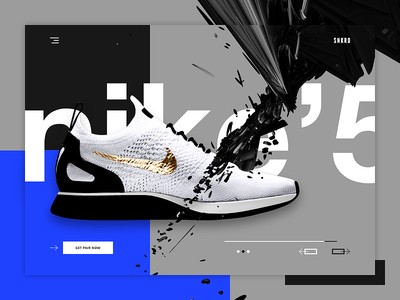 SNKRD - Sneakers shop landing page - v2 nike casual shopping fitness industry landing page shoes fitness items ui design web design e-commerce ecommerce website