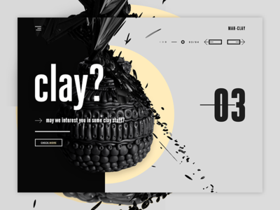 MAH-CLAY - Pottery & stuff landing page design