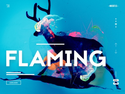 NOSKTLS - Digital Agency landing page concept #3 minimal production agency video production digital agency ui design ui landing page creative agency web design website design funky and fresh unicorns