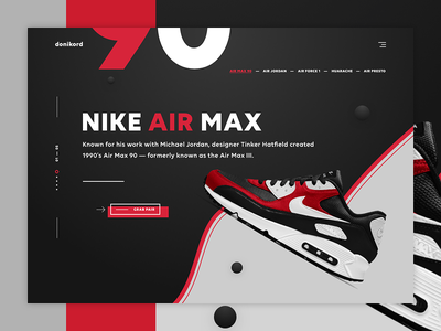 donikord - sneakers shop online shop modern ecommerce e-commerce web design ui design shoes landing page sneakers casual shopping nike