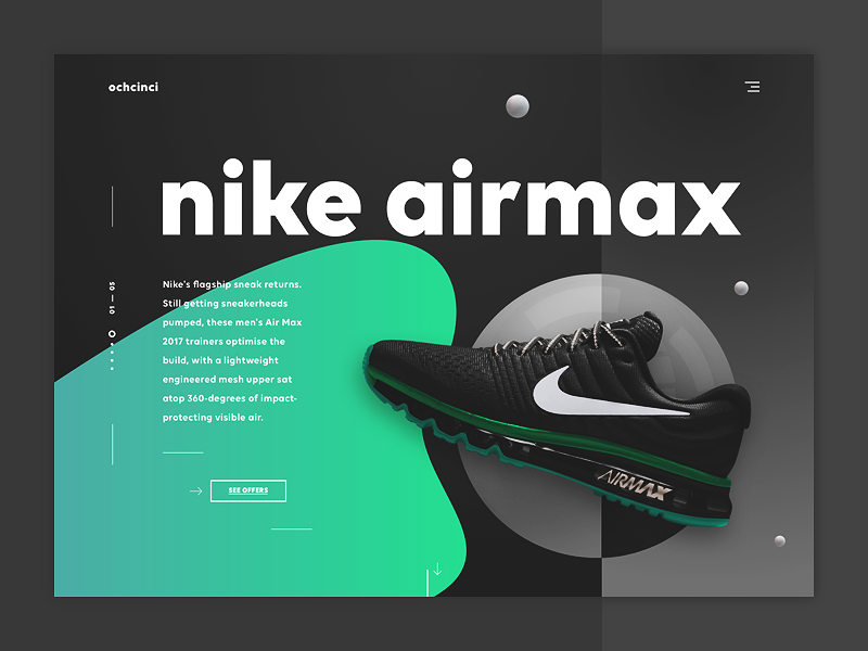 ochcinci - sneakers & co nike casual shopping sneakers landing page shoes ui design web design e-commerce ecommerce modern online shop