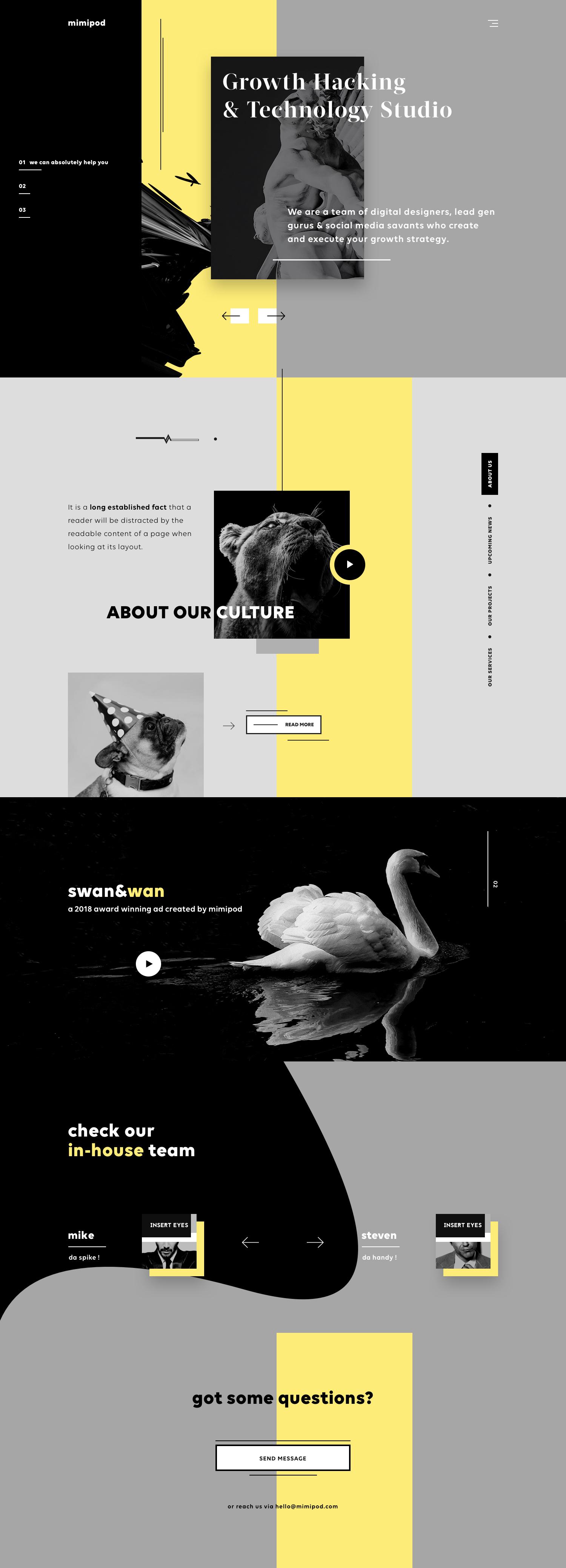 Mimipod digital growth agency ux ui design web design dribbble full7