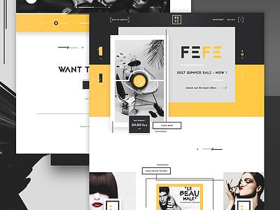 FEFE - Perfume shop perfumes perfume shop web design website design ui design user interface dior versace scents
