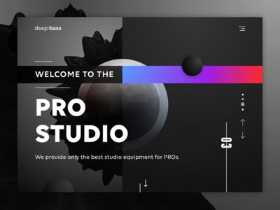 deep/bass - audio equipment website design