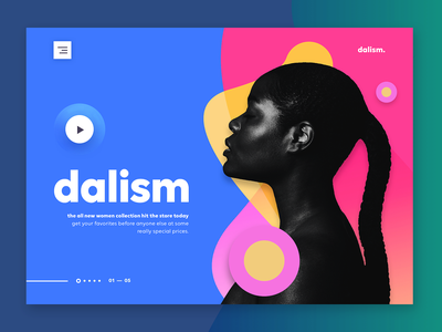 dalism - Online Fashion Store #2 multi color colors online shop online store designer clothing clothing design ecommerce creative agency fashion user interface website one page minimal ui website design landing page web design ui design
