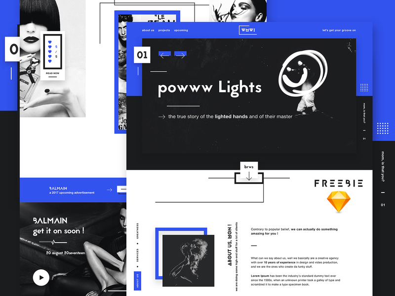 FREEBIE - WMWI - Digital agency landing page free landing page free template sketch freebie unicorns funky and fresh website design web design creative agency landing page ui ui design digital agency