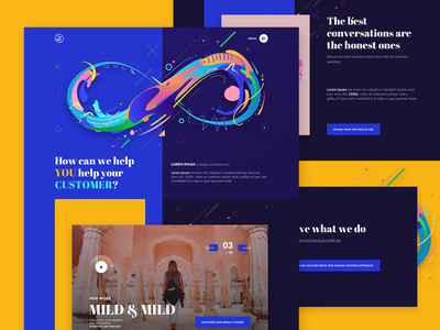 PaperplaneCo - Creative Agency landing page design