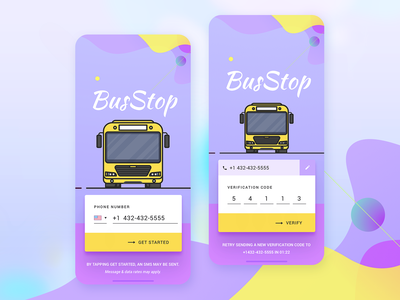 BusStop - iOS App for School Transportation ios uber for schools school bus bus stop user interface user experience ux design ui design mobile app design