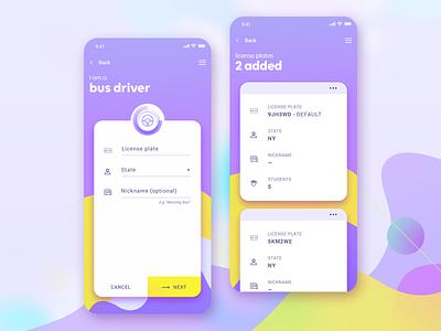 BusStop - iOS App for School Transportation uber for schools school bus bus stop user interface user experience ux design ui design mobile app design