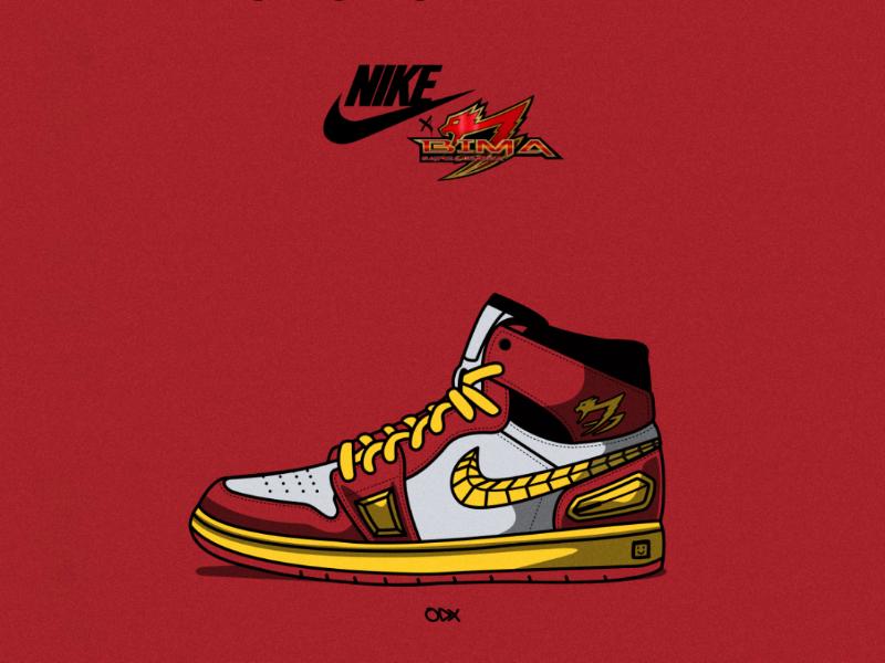 Nike x Bima Satria Garuda design graphic illustrator logo design sneaker