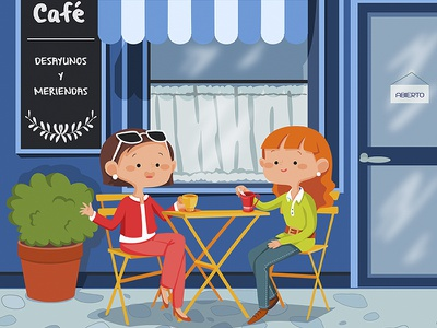 Coffee Shop coffe shop illustration tizashechastrizas tht