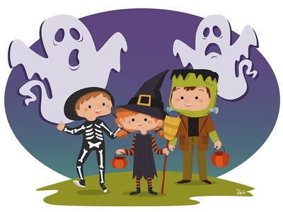 Halloween! Trick or treat? halloween trick or treat tizashechastrizas illustration tht