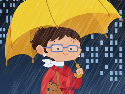 Walking in the rain rain umbrella illustration tizashechastrizas tht