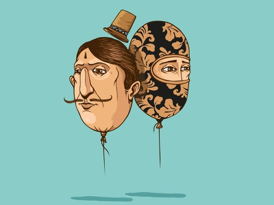 Balons... balons face characters digital