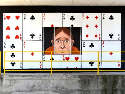 AzzardoTiVinco illustration prigione carte azzardo