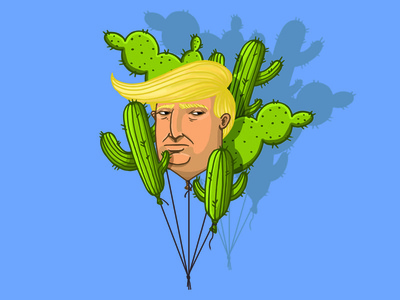 Tramp illustration characters vector art baloons digitalart