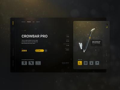 Product card – Crowbar PRO atmosphere bokeh half-life 3 shop product card ui ux